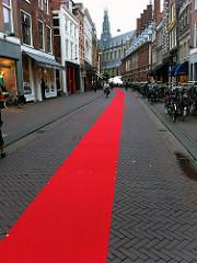 Red carpet in Haarlem