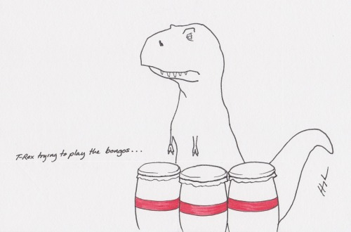 T-Rex Trying to Play the Bongos…<br /><br /><br /><br /><br /> #TRexTrying