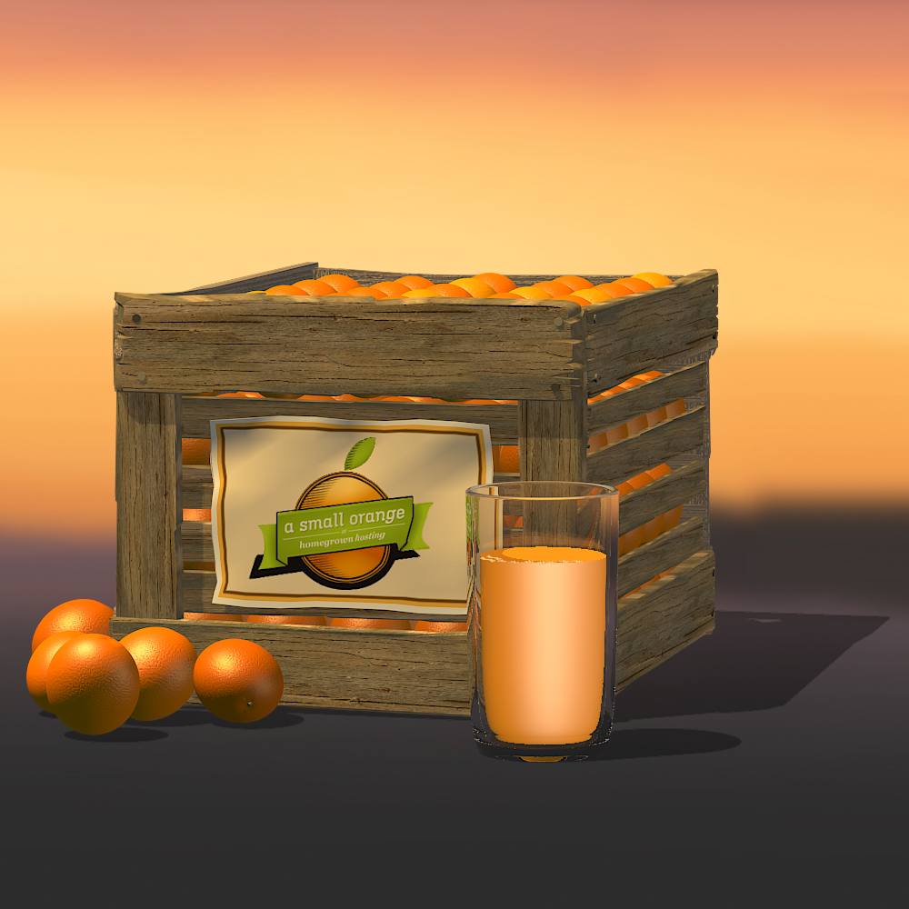 A wooden crate of oranges -1