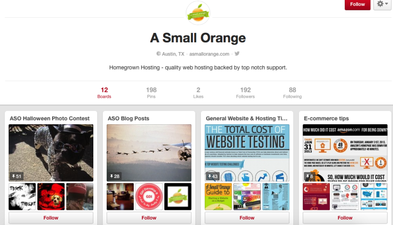 A Small Orange Pinterest